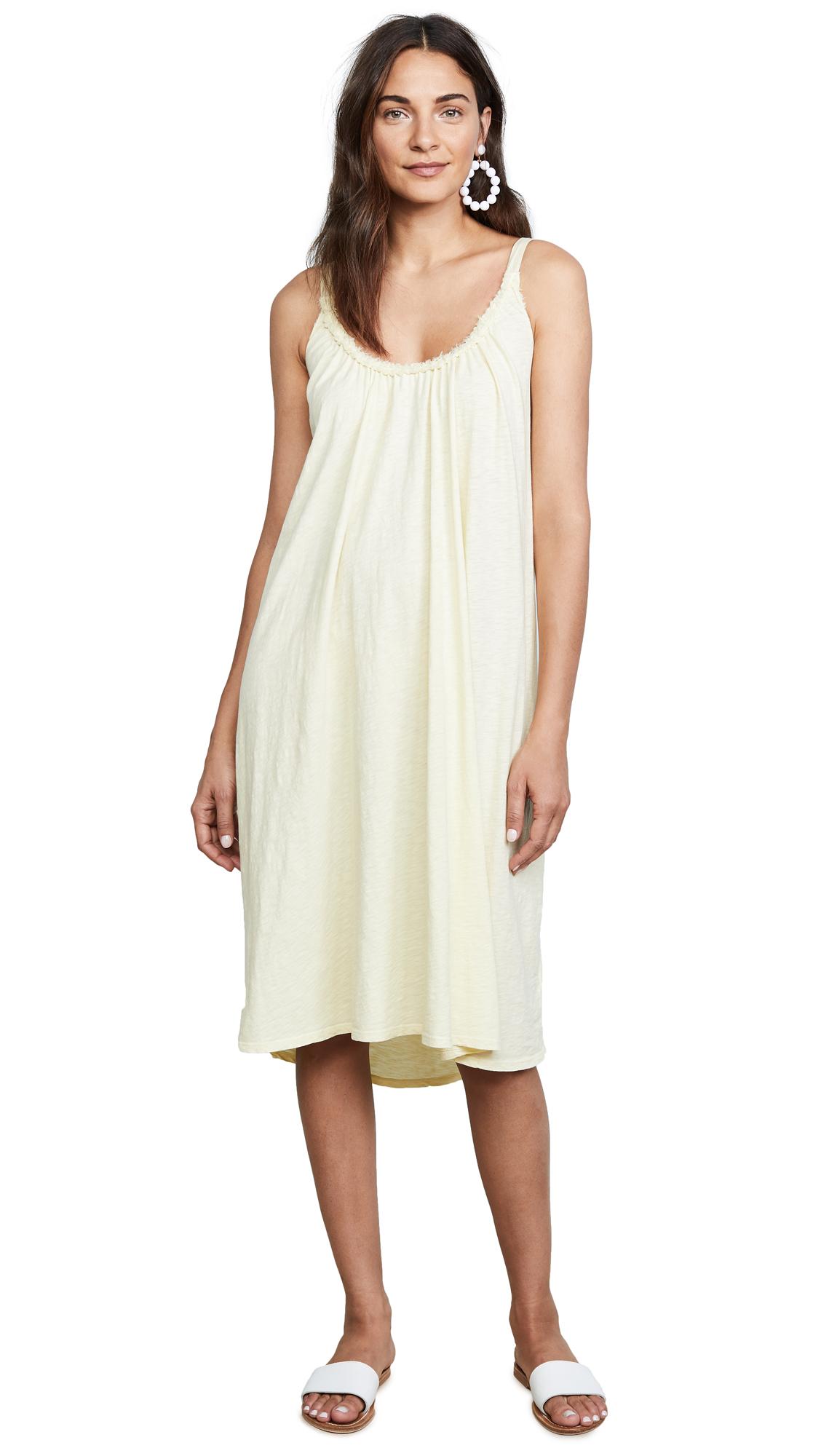Velvet Burca Midi Dress In Buttercup