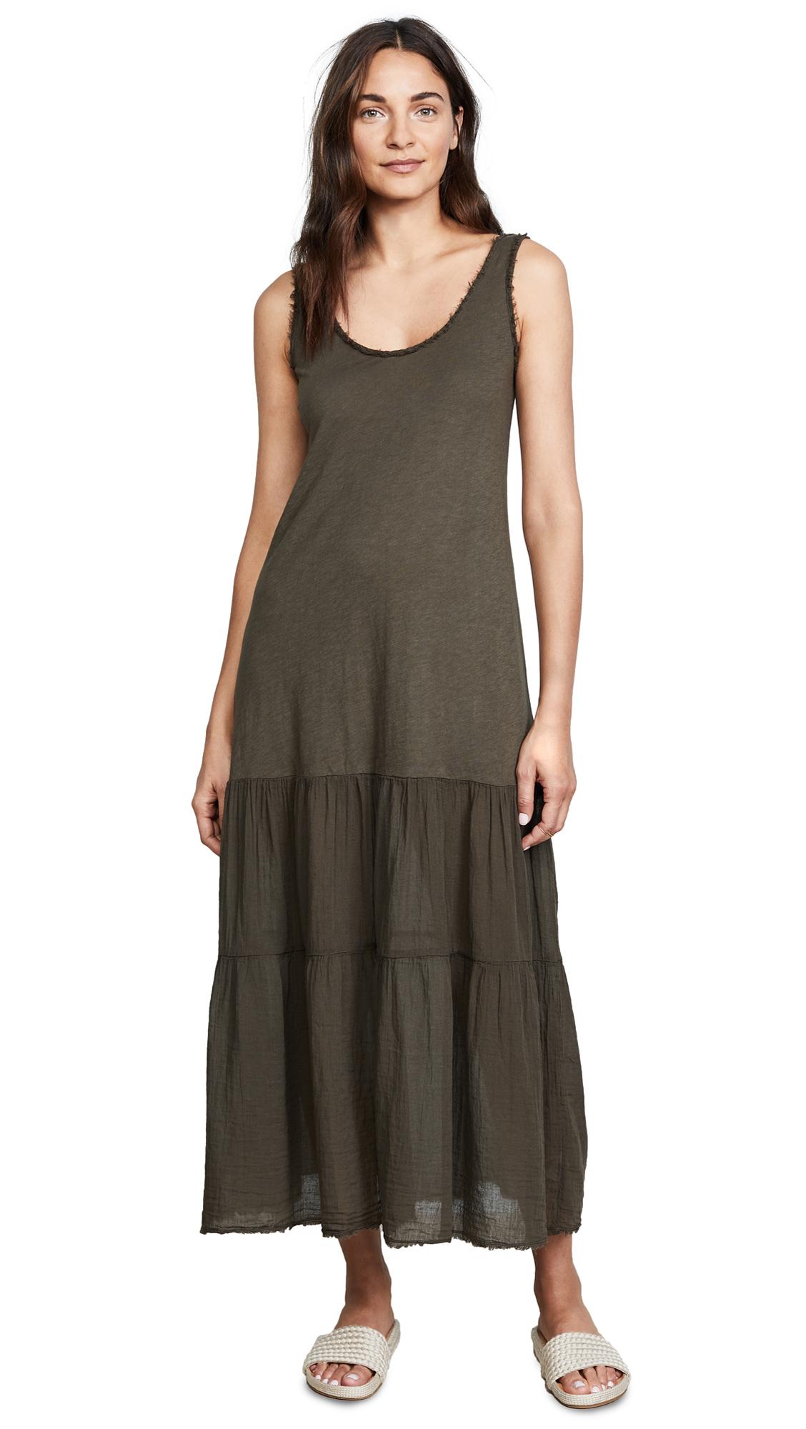 Velvet Agnese Maxi Dress In Marsh