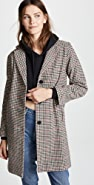 Velvet Graham Houndstooth Coat