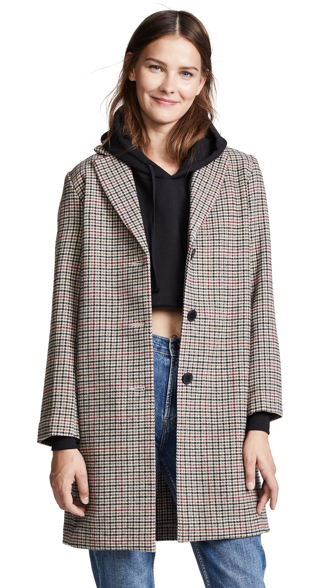 Velvet Graham Houndstooth Coat In Multi