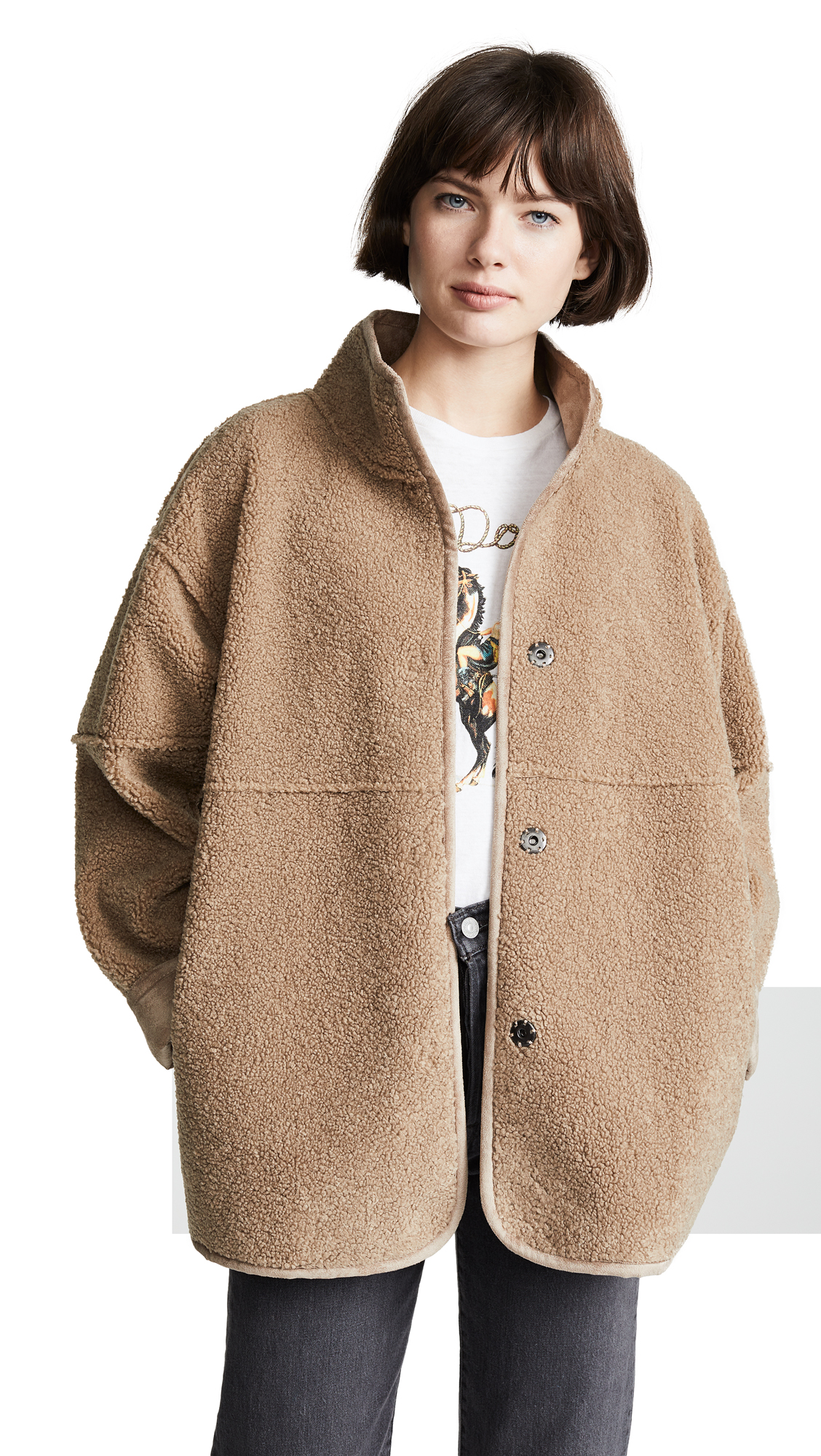 Albany Sherpa Coat in Tan
