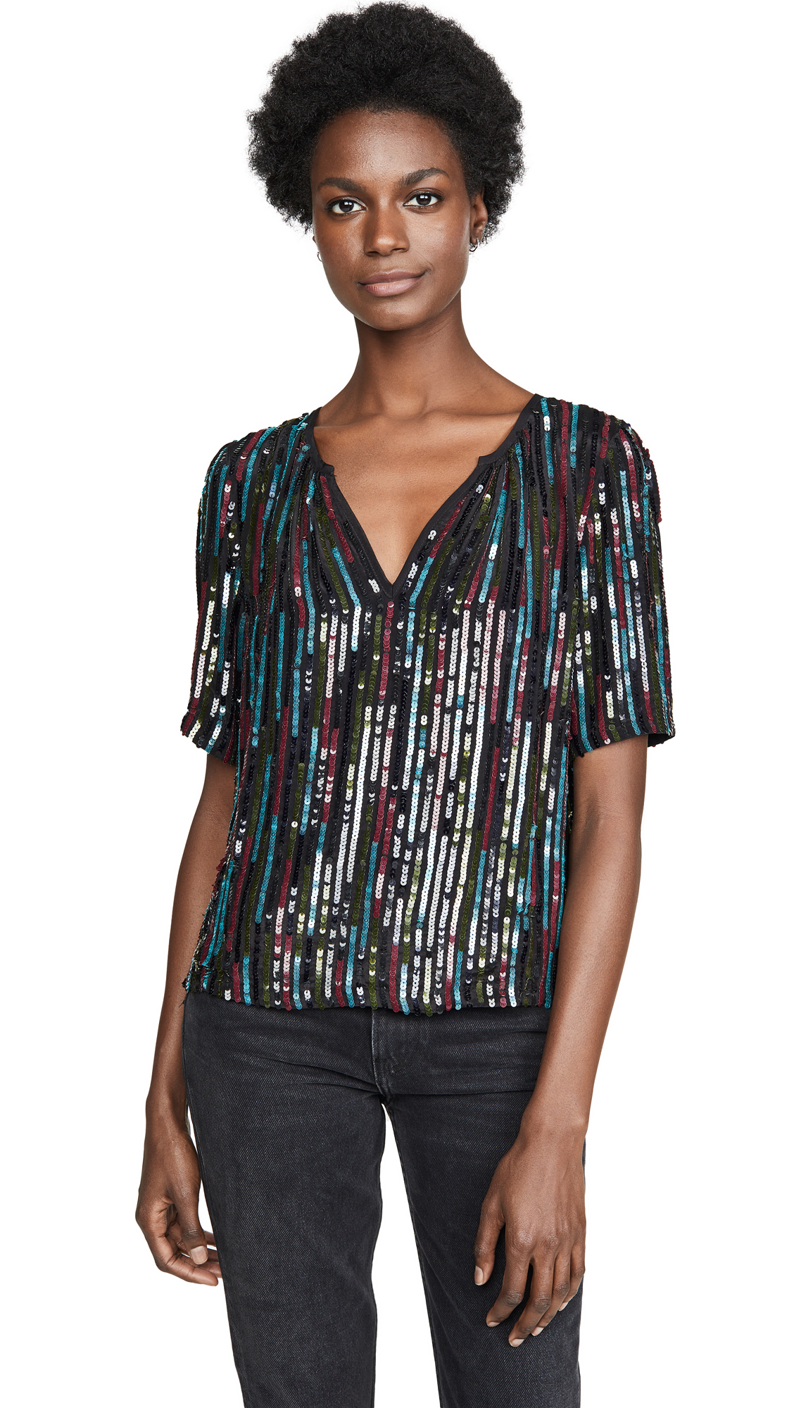 Buy Velvet online - photo of Velvet Nikky Sequin Top