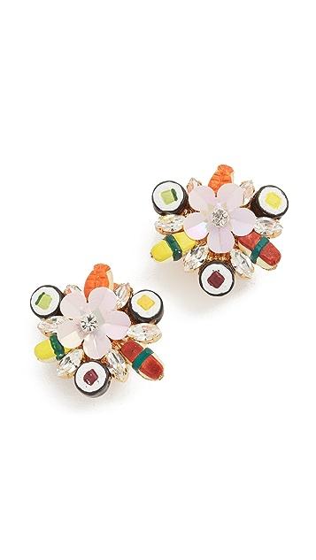 Venessa Arizaga Sushi Platter Clip On Earrings