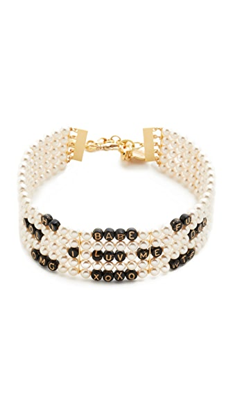 Venessa Arizaga Whatcha Say Imitation Pearl Choker Necklace
