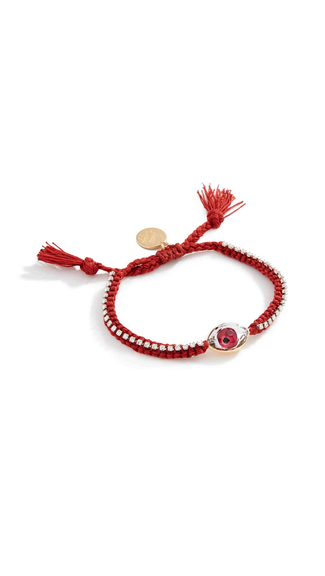 Venessa Arizaga Crystal Eye Bracelet In Red