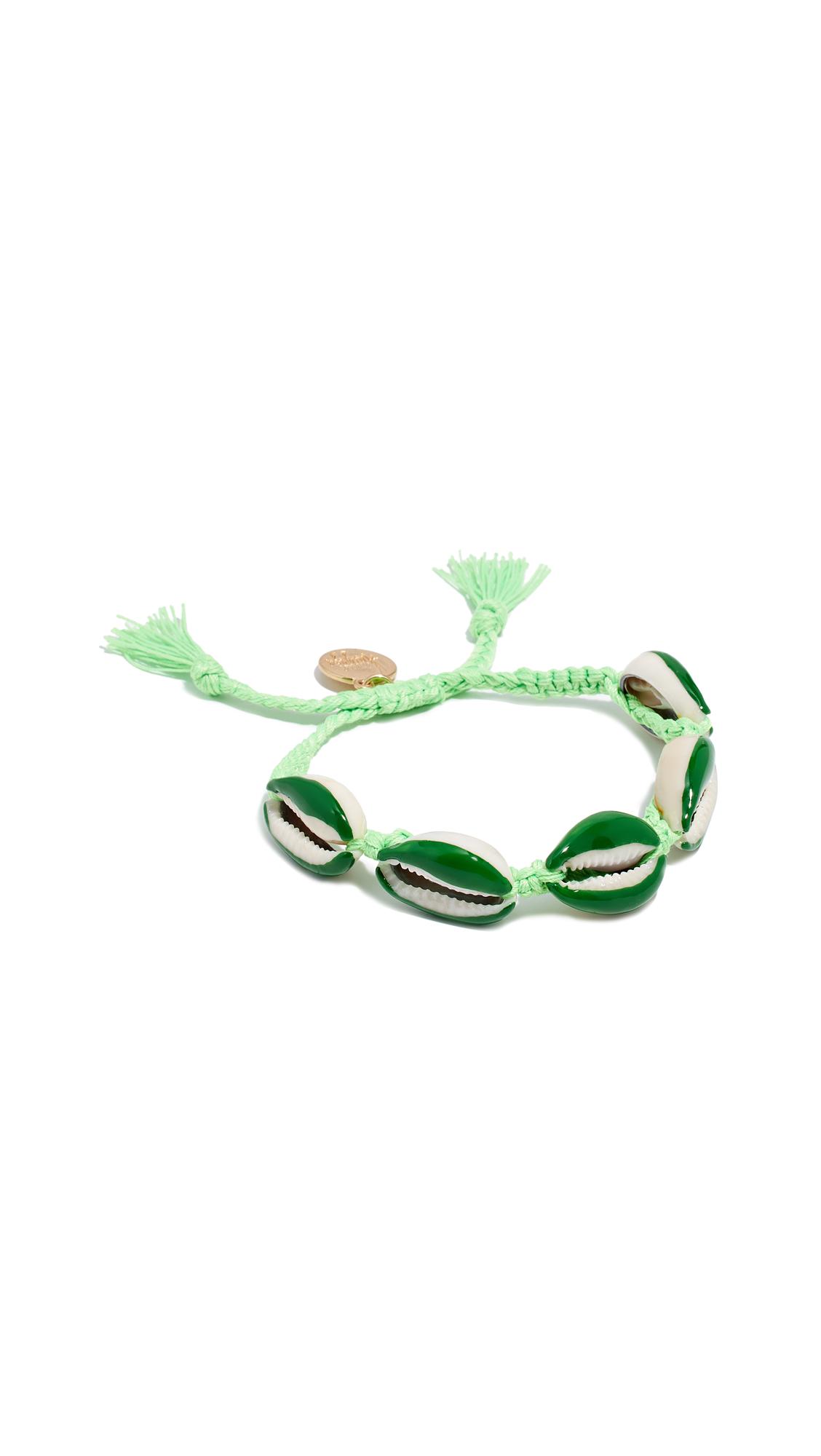 VENESSA ARIZAGA Neon Shell Bracelet in Green