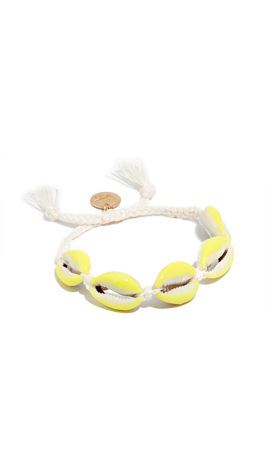 VENESSA ARIZAGA Neon Shell Bracelet in White