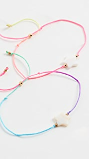 Venessa Arizaga Twin Stars Rainbow Bracelet Set