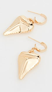 Venessa Arizaga Mini Shark's Tooth Earrings