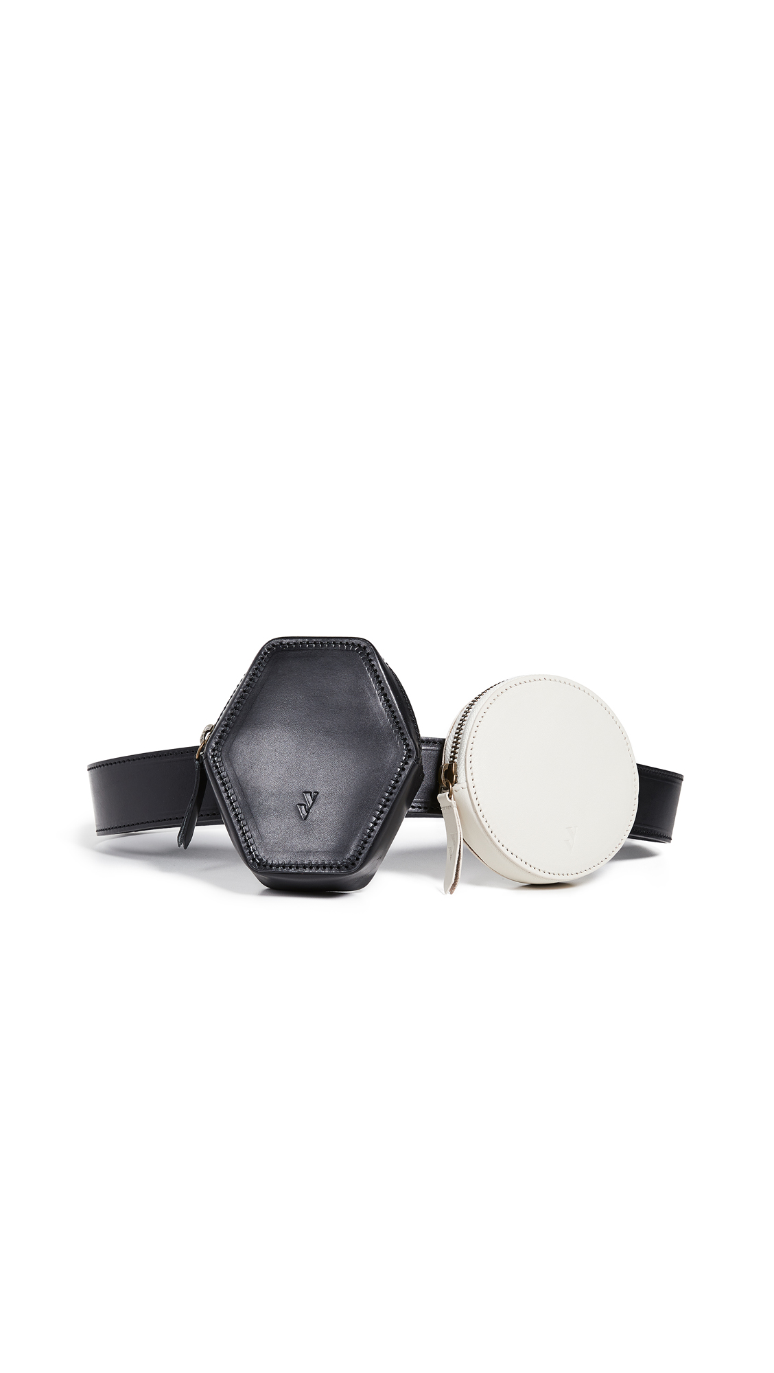 VEREVERTO Deco Deconstruct Belt Bag in Black/White