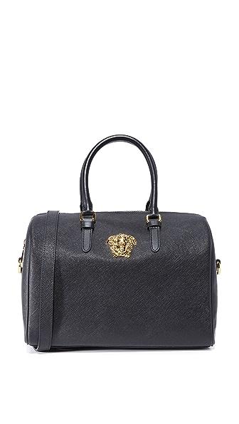 Versace Leather Bag - Black/Gold
