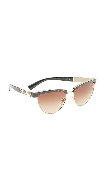 Versace Солнцезащитные очки «кошачий глаз»
