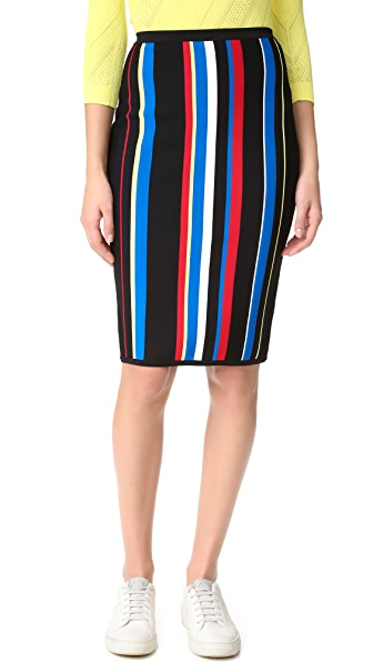 Versace Striped Skirt - Rosso Multicolor