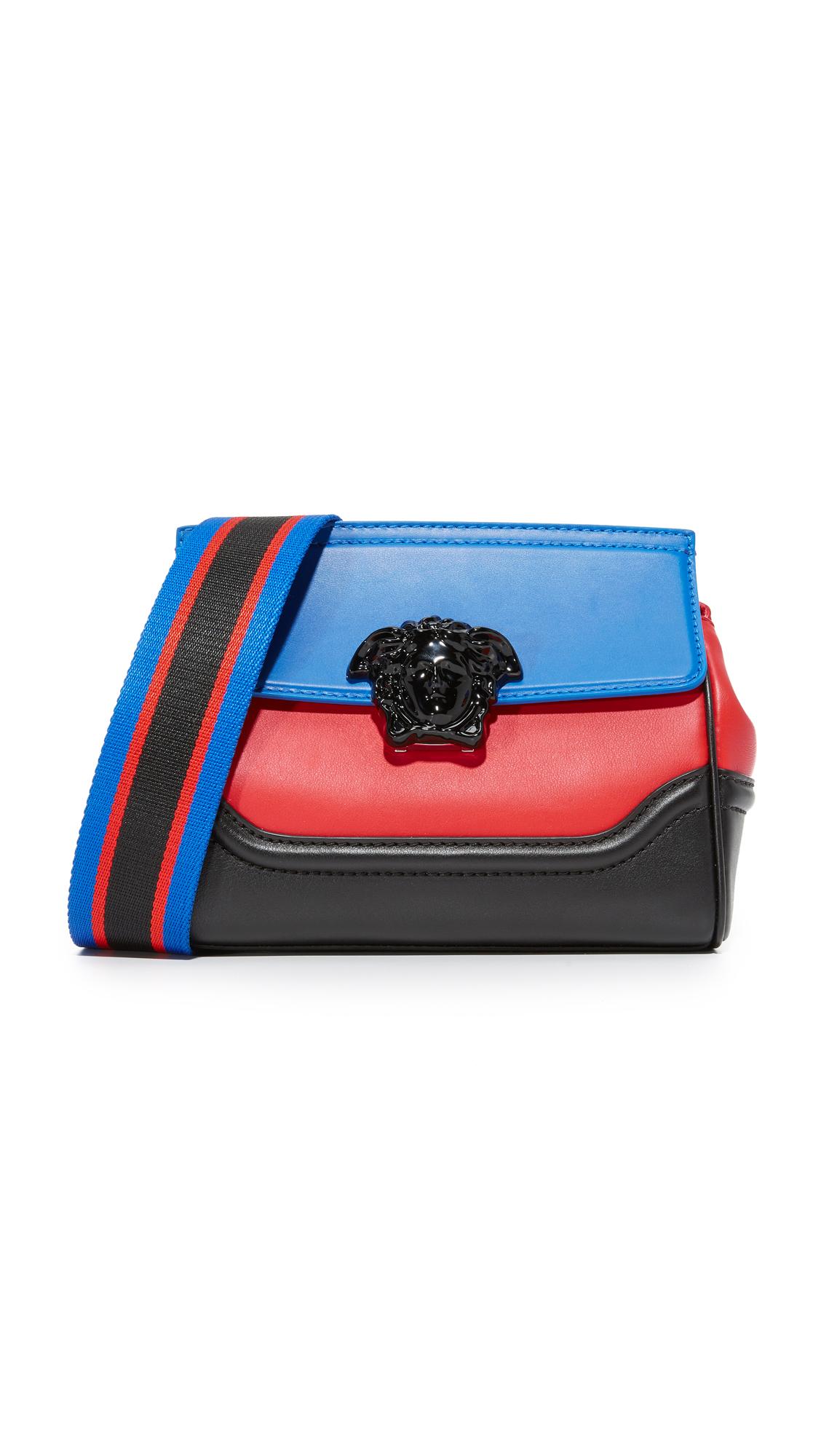 versace female versace messenger bag multicolor bluette