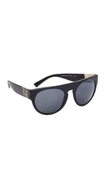 Versace Greca Flat Top Sunglasses