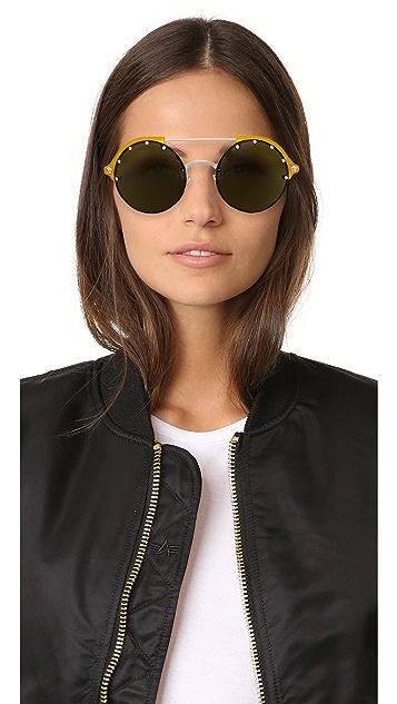 Versace Studded Brow Bar Sunglasses