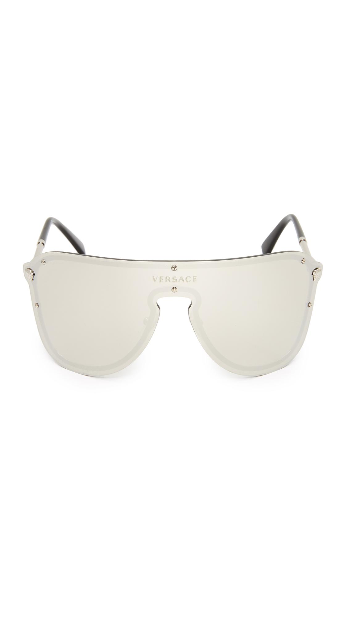 fe387080588 Versace Mirrored Shield Sunglasses