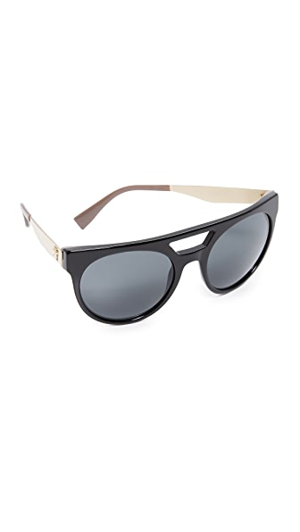 Versace Brow Bar Sunglasses - Black/Grey