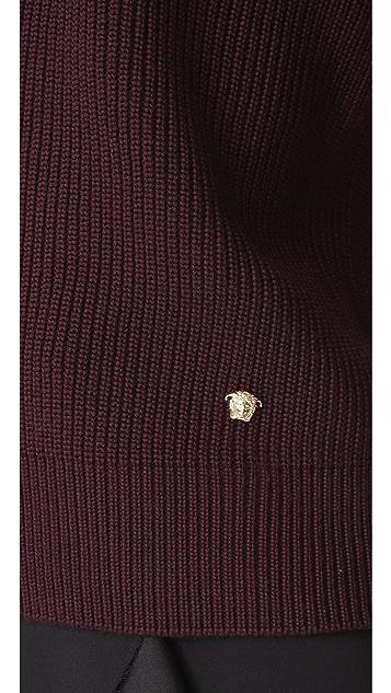 Versace Ruffle Arm Sweater