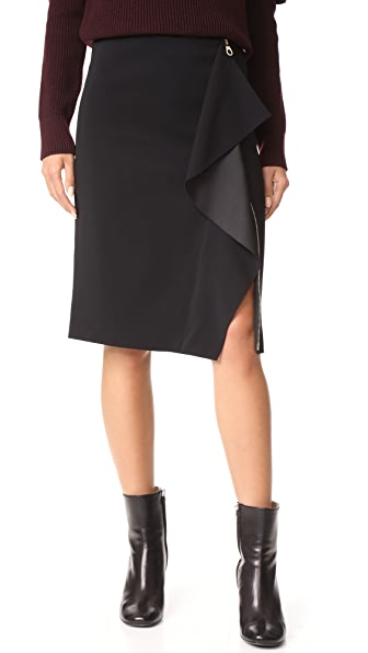 Versace Drape Front Skirt