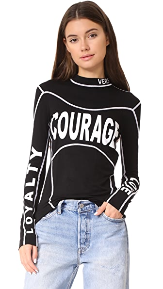 Versace Courage Shirt - Black/White