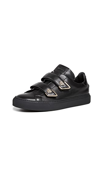 Versace Velcro Sneakers In Black