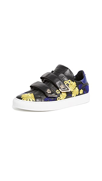 Versace Velcro Sneakers In Yellow