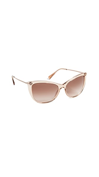 Versace Pop Chic Sunglasses In Transparent Light Brown/Brown