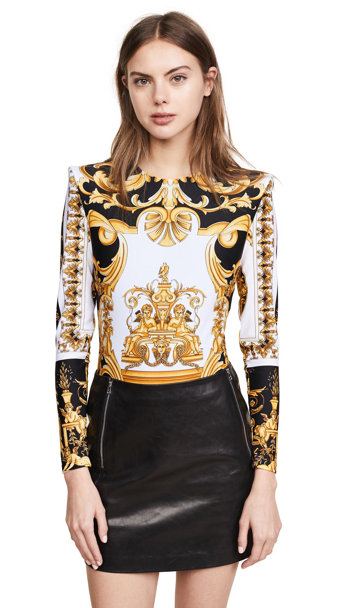 Versace Patterned LS Bodysuit In Multi