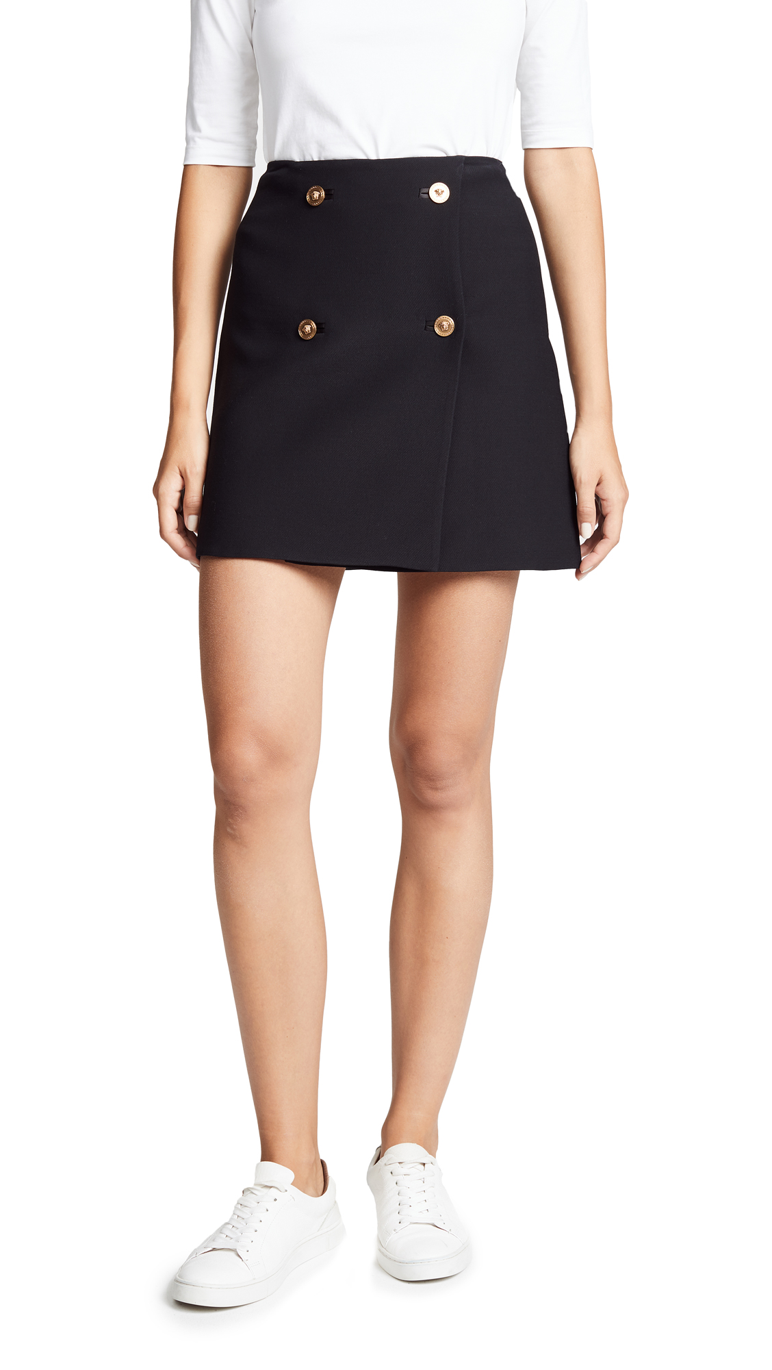 Versace Double Breasted Skirt In Black