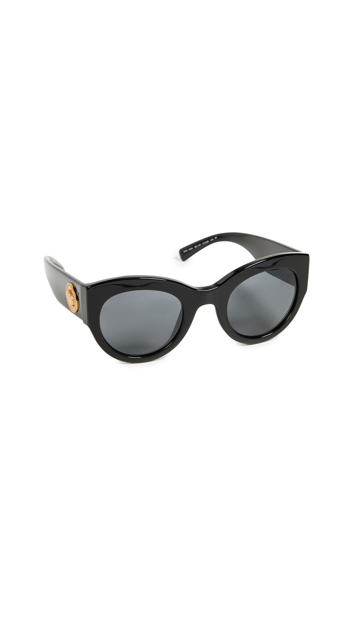 Versace Bold Frame Sunglasses - Black/Grey