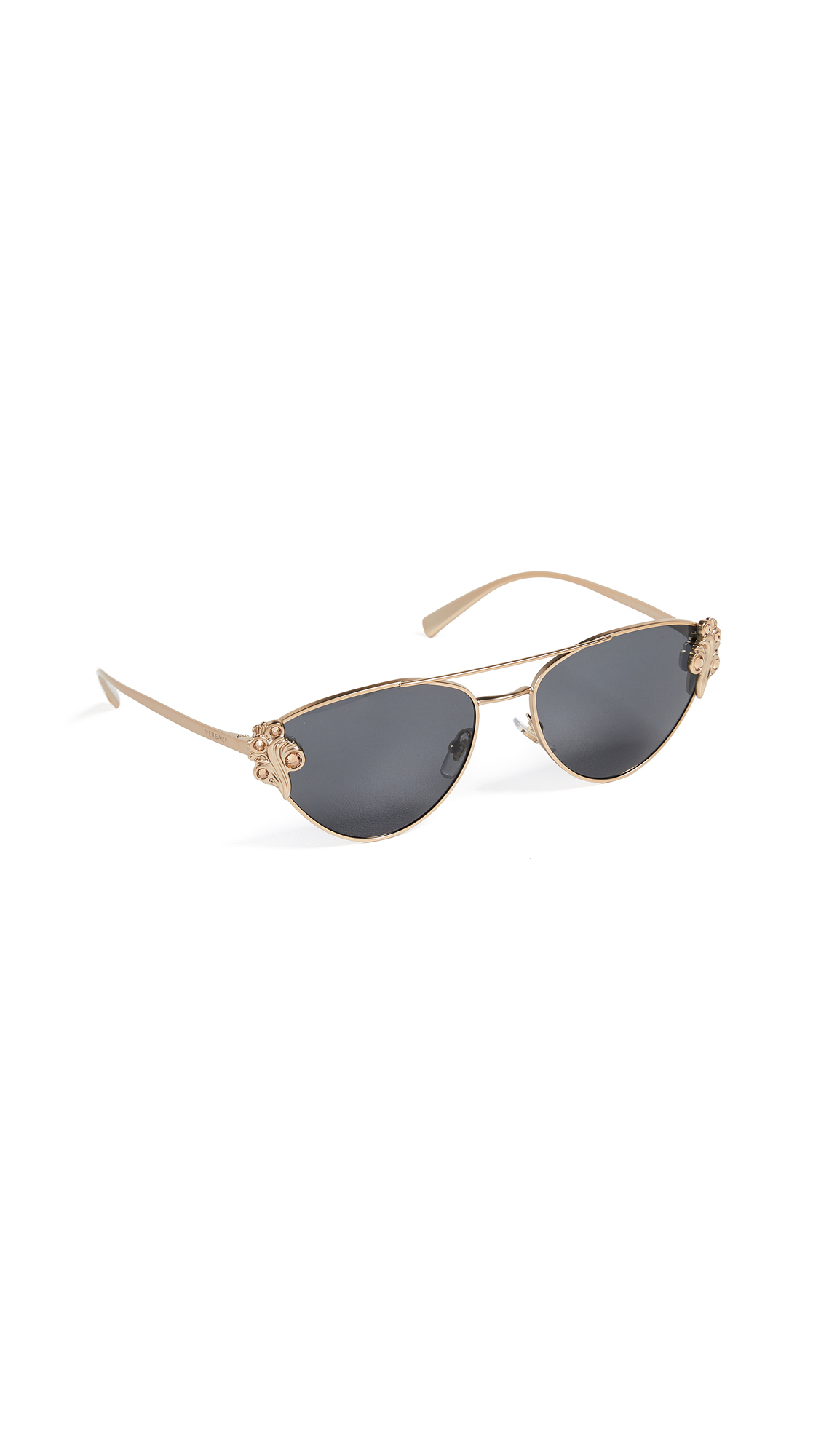 Versace Aviator Sunglasses - Gold/Grey