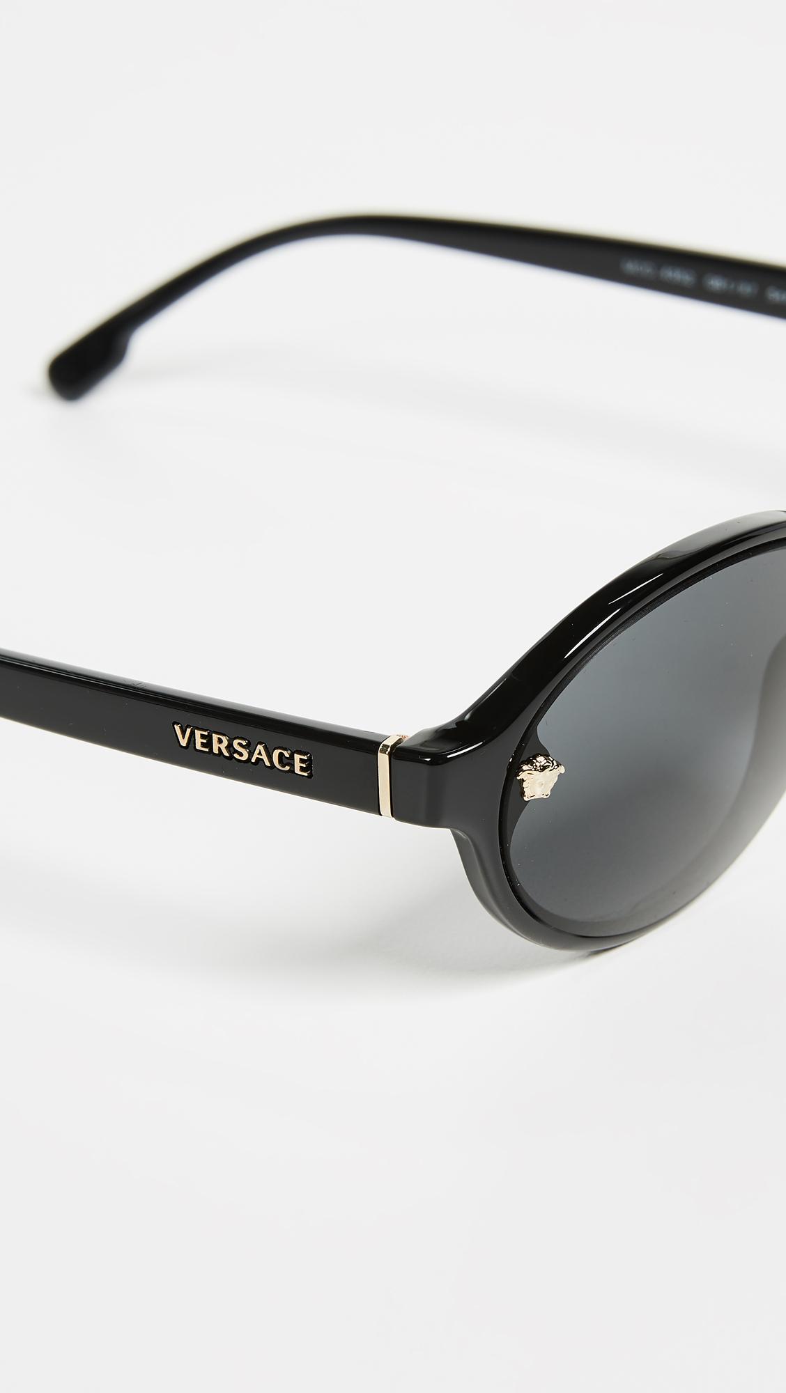 fc74175e453ea Versace VE4352 Skinny Oval Sunglasses