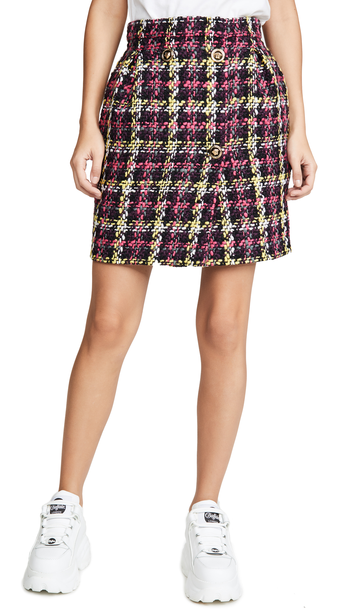 Buy Versace online - photo of Versace Plaid Miniskirt