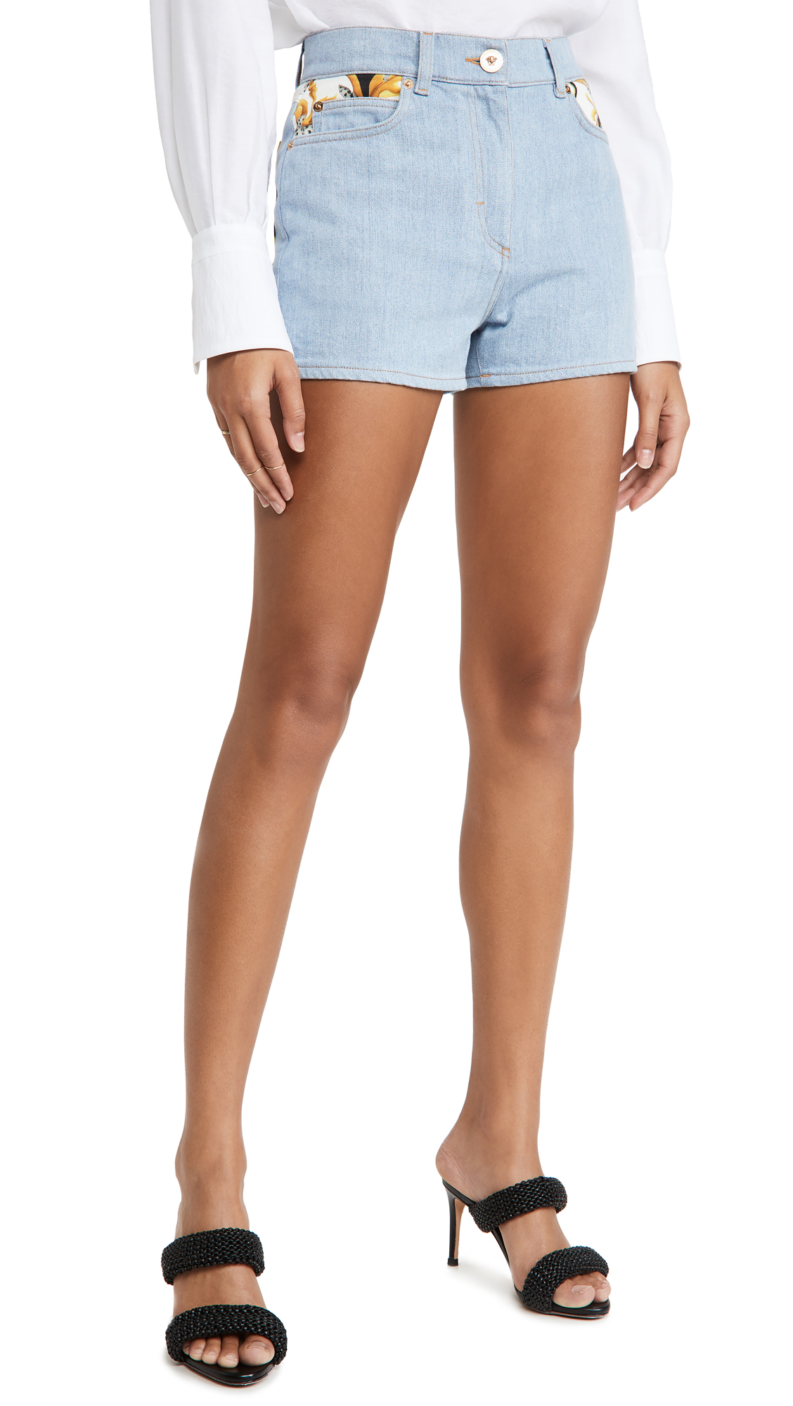 VERSACE DONNA DENIM SHORTS