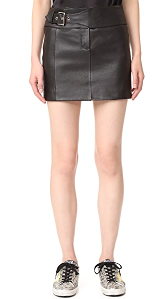 Versus Belted Leather Skirt | SHOPBOP