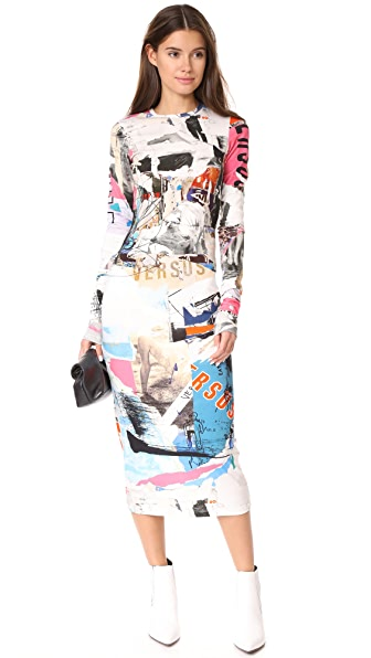 Versus Printed Dress - Multi