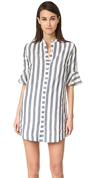 VETIVER Ali Ruffle Dress - Stripe