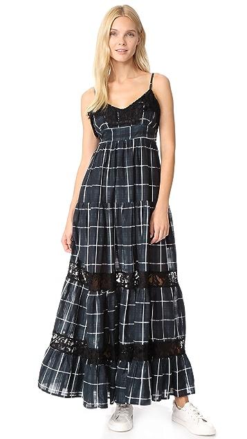 VETIVER Communication Breakdown Maxi Dress