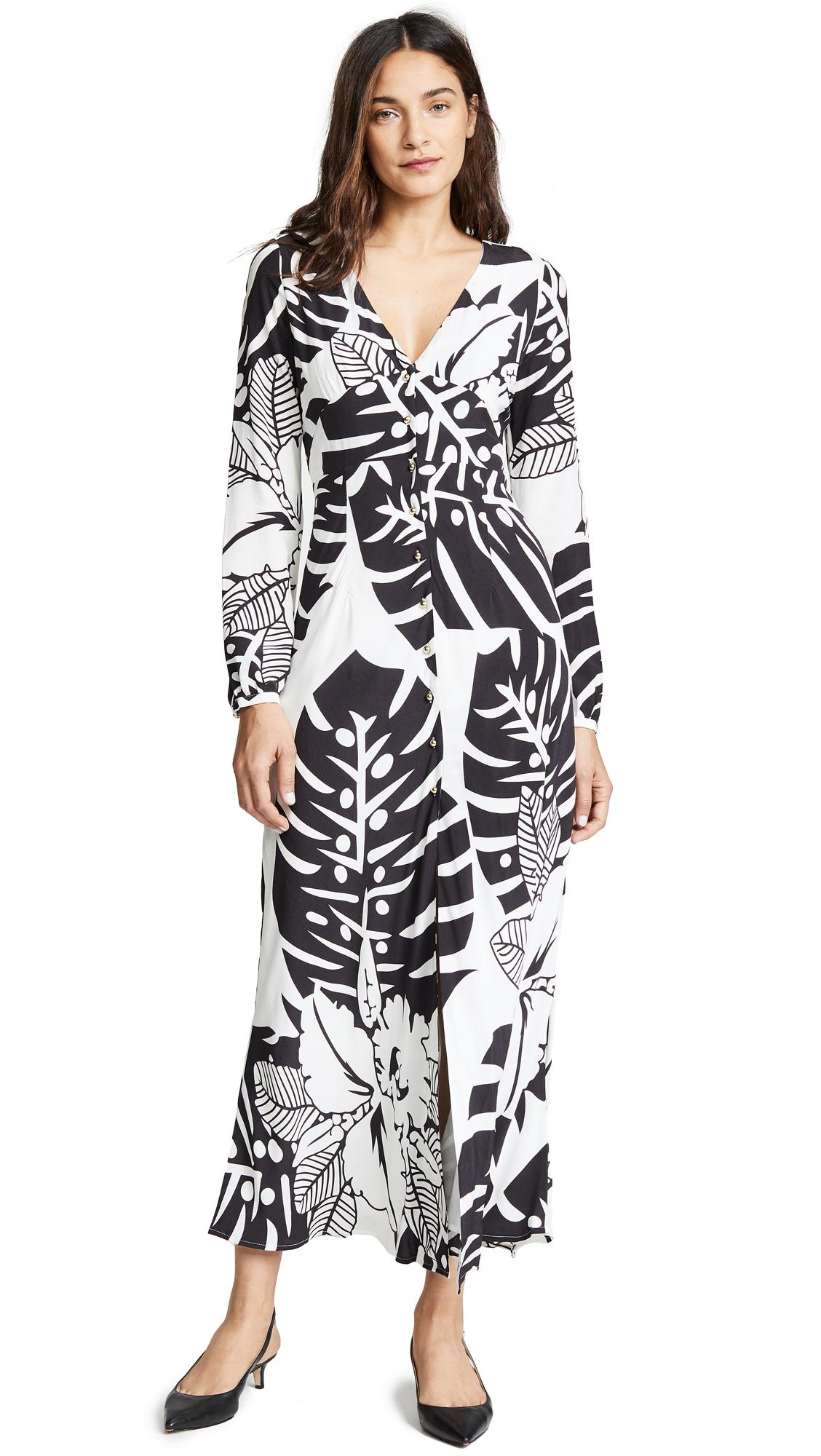 VETIVER Bahama Mama Dress in Black/White