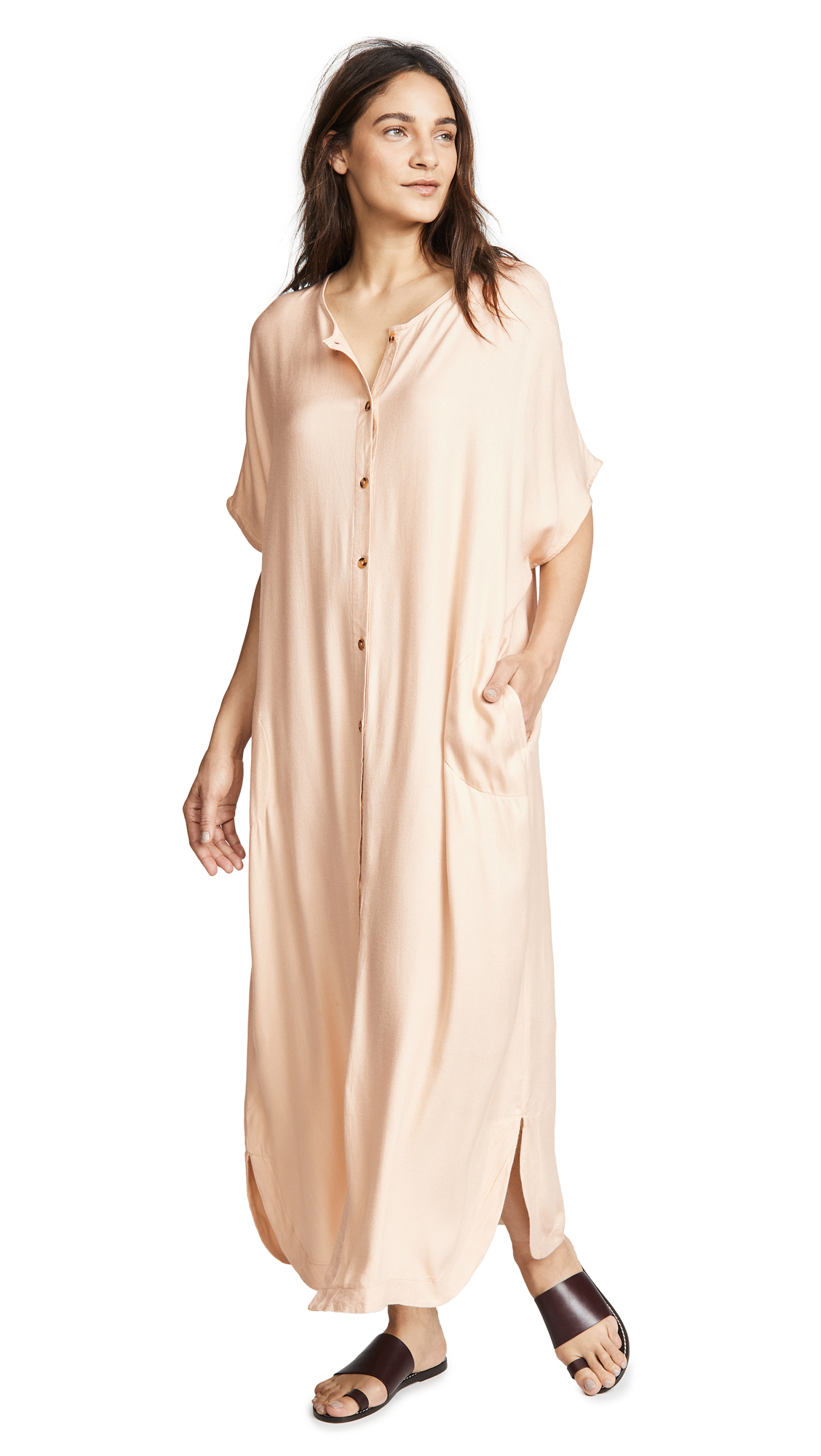 VETIVER Patti Shirt Dress In Ivory