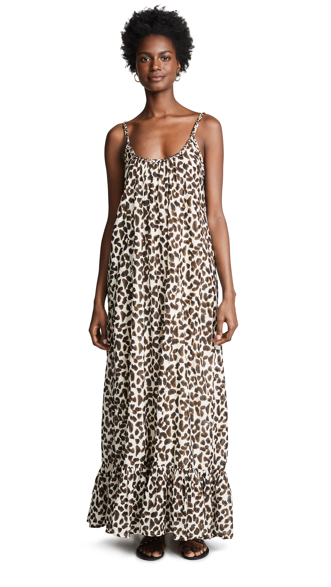 VETIVER Dance Away Sun Dress in Leopard