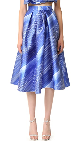 Vika Gazinskaya Pleated Bell Shaped Skirt