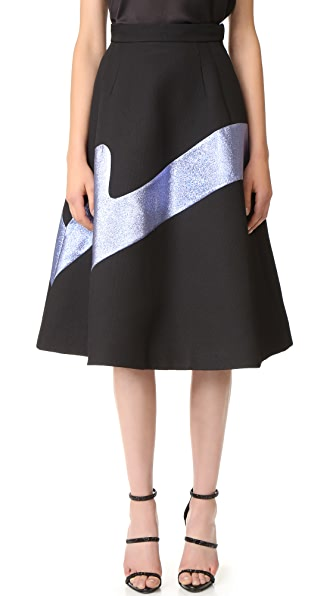 Vika Gazinskaya Metallic Detail Skirt
