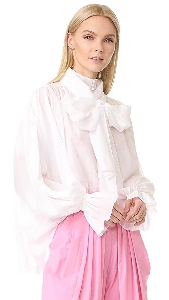 Vika Gazinskaya Pussy Bow Blouse