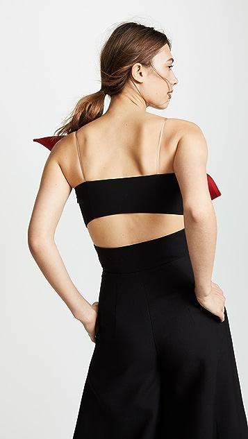 Vika Gazinskaya Colorblocked Top with Bow