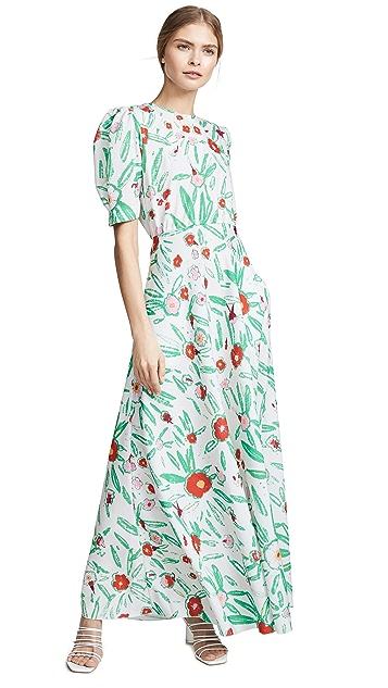 Vika Gazinskaya Flower Print Fitted Dress