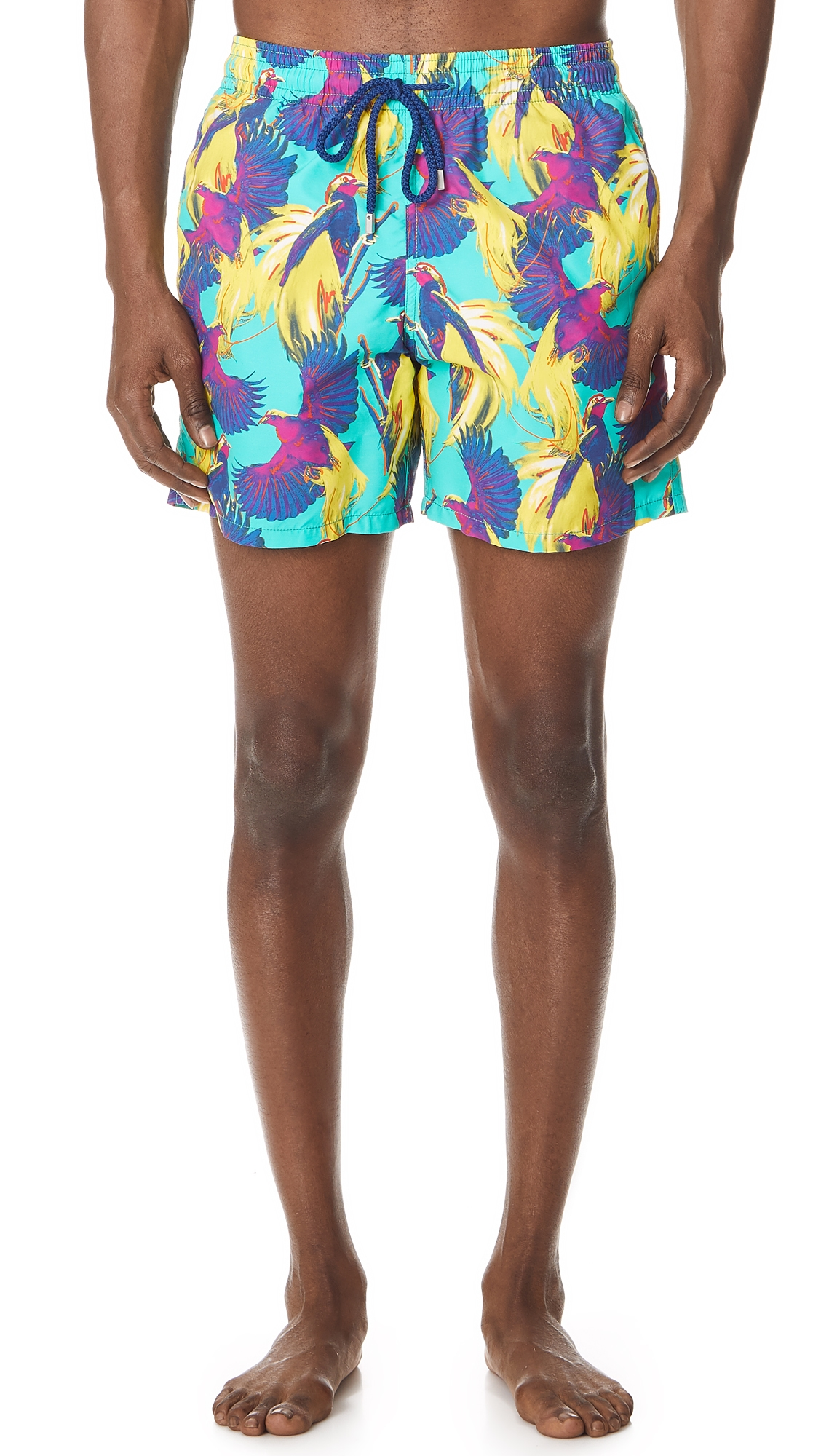 Men Swimwear - Men Swimwear Birds Of Paradise - Swimming Trunk - Moorea in Blue