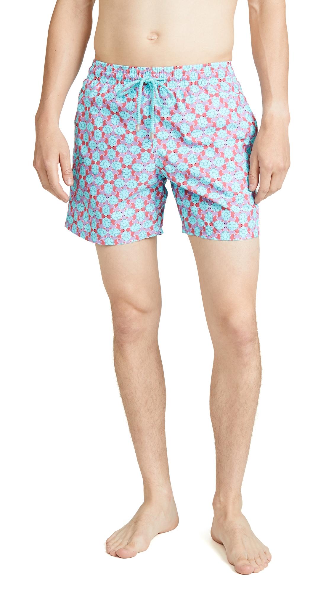 VILEBREQUIN   Vilebrequin Cherry Blossom Turtles Moorea Swim Trunks   Goxip