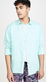 Vilebrequin Caroubis Long Sleeve Linen Shirt
